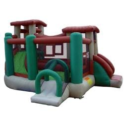 KidWise Clubhouse Climber Inflatable Bounce House 7959598
