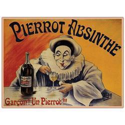 Pierrot Absinthe Garcon! By L.E.M. - 18X24