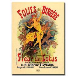 Folies Bergere Fleur De Lotus By Jules Cheret -