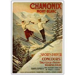 Chamonix Mont Blanc By Francisco Tamanjo-24X32