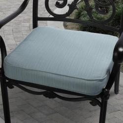 Clara Outdoor Light Blue Cushion Made with Sunbrella