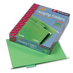 Smead 1/5 Tab Green Hanging File Folders (Pack of 25)