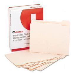 Universal File Folders- 1/5 Cut Assorted-