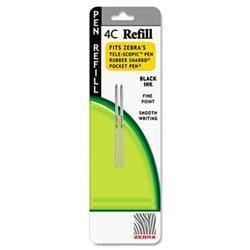 Zebra Refill for 4C Pocket Pen- Fine- Black Ink-