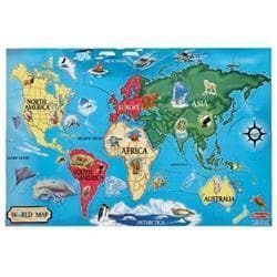 Melissa & Doug World Map 33-piece Floor Puzzle