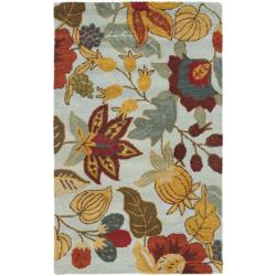 Safavieh Handmade Blossom Floral Light Blue Wool Rug (3' x 5')