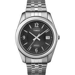 Timex Men&#39;s T2N317 Elevated Classics Dress Stainless Steel Expansion Watch