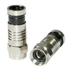 C2G RG6 Compression F-Type Connector with O-Ring - 50pk