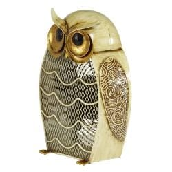 Deco Breeze DBF0187 Snow Owl Figurine Fan