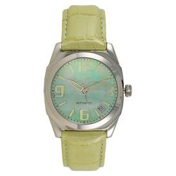 Lucien Piccard Ladies Monaco Collection Stainless Steel Leather Strap Watch