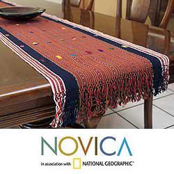 Handmade Cotton 'Guatemala Highlands' Table Runner (Guatemala) 8074910