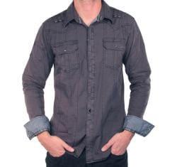 191 Unlimited Men's Military Stitch Shirt