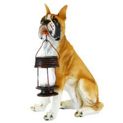 Boxer Dog Garden Outdoor Solar Light Lantern