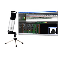 MXL TempoSK/M USB Microphone with Mixcraft 6 Home Studio Silver/Black