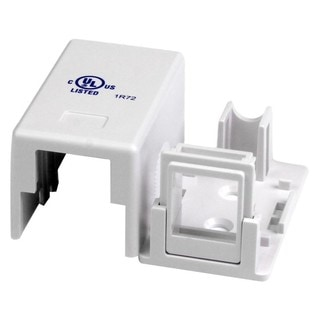 StarTech.com Single Cat 5e RJ45 Universal Wall Jack - White
