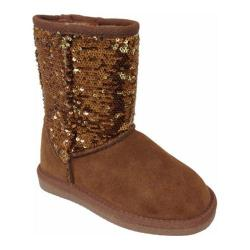 Girls' Lamo Sequin Boot Chestnut/Gold