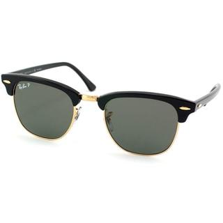 43de87cdaa Ray-Ban Unisex RB 3016 Clubmaster Black  Gold Polarized Sunglasses  (10429484 Luxottica)