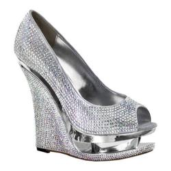 Women's Pleaser Day & Night Razzle 660RS Silver Satin