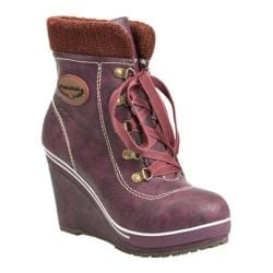 Women's Reneeze Angel-01 Burgundy Platform Boots