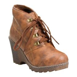 Women's Reneeze Angel-02 Wedge Camel Boots