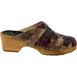 Women's Cape Clogs Rosette Beige Multi
