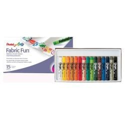 Pentel Fabric Pastel Dye Sticks (Set of 15)