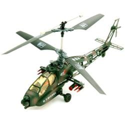Radio Control 4-Channel AH64 Military Apache Helicopter