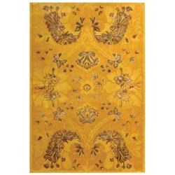 Safavieh Handmade Silk Road Majestic Gold New Zealand Wool Rug (8'3 x 11')