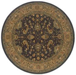 Berkley Black/ Tan Traditional Area Rug (7'8 Round)