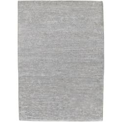 Hand-knotted Solid Grey Casual Yonkers Semi-Worsted Wool Rug (9'x13')