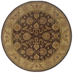 Ellington Brown/Beige Traditional Area Rug (7'8 Round)