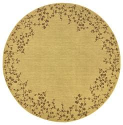 Ellington Beige/Brown Transitional Area Rug (7'8 Round)