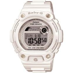 Casio Women's 'Baby-G BLX' White Tide Graph Watch