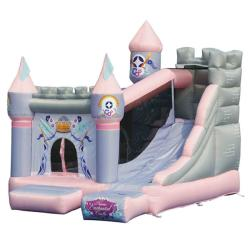 KidWise Princess Enchanted Castle with Slide Bounce House 8431298