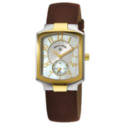 Philip Stein Women's Classic Brown Strap Two Tone Watch