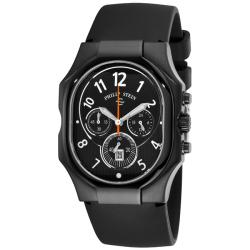Philip Stein Men's 'Classic Chrono' Black Rubber Strap Watch