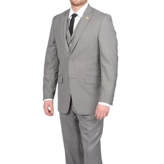 Stacy Adams Men&#39;s Medium Grey Two-button Vested Suit