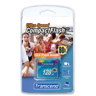 Transcend 128MB CompactFlash Card - 80x