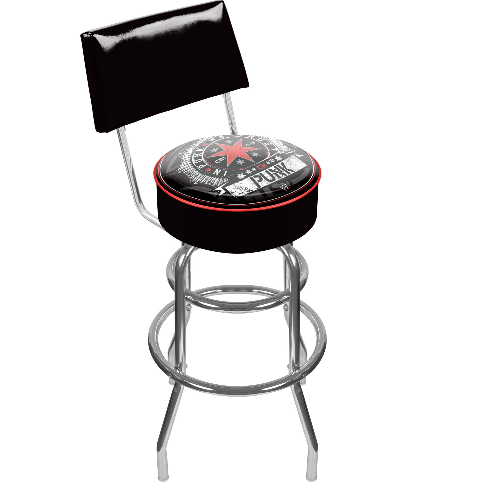 WWE Padded Bar Stool with Back