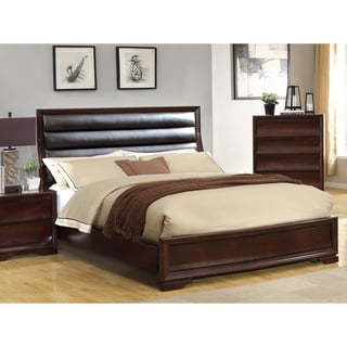 Zoria Modern Leatherette Platform Queen Bed