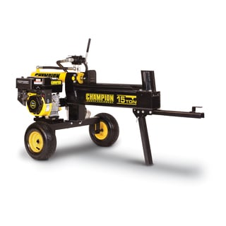 Champion 15-ton Horizontal/ Vertical Hydraulic Log Splitter with Log Catcher (Unassembled)