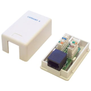 StarTech.com Single Cat5e RJ45 Wall Jack White with Keystone Jack