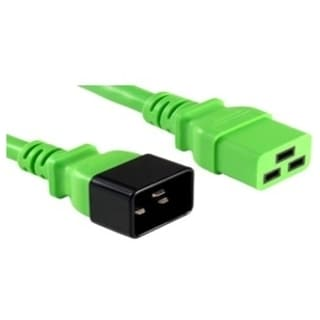 APC Cables C20 to C19, 20A/250V 12/3 SJT Green, 6FT