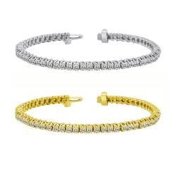 14k Gold 9ct TDW Diamond Tennis Bracelet (I-J, I1-I2)