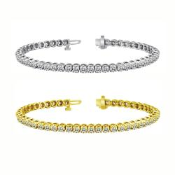 14k Gold 10ct TDW Diamond Tennis Bracelet (I-J, I1-I2)