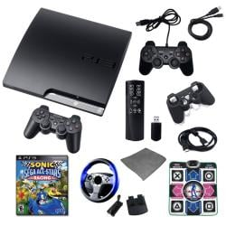 Playstation 3 160GB Ultimate Holiday Bundle with Sonic Racing, Wheel, Remote, and Much More