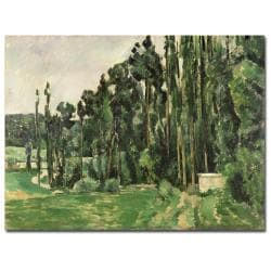 Paul Cezanne 'The Poplars 1879' Canvas Art