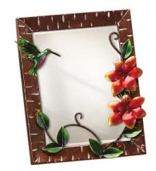 Small Metal Hummingbird Table Mirror