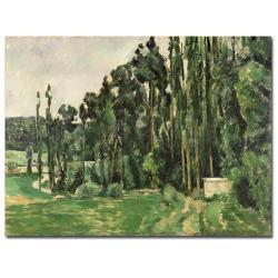Paul Cezanne 'The Poplars, 1879' Canvas Art