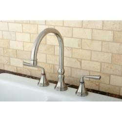Satin Nickel 3-hole Kitchen Faucet